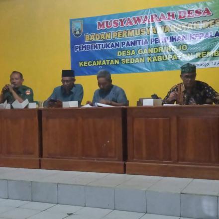 Musyawarah Desa (Musdes) Pembentukan Panitia Pilkades Desa Gandrirojo