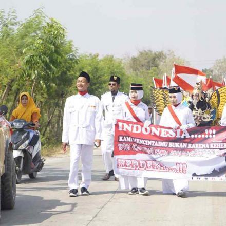 Dalam rangka Peringatan HUT Ke-74 RI Tahun 2019 Desa Gandrirojo Menggelar Karnaval