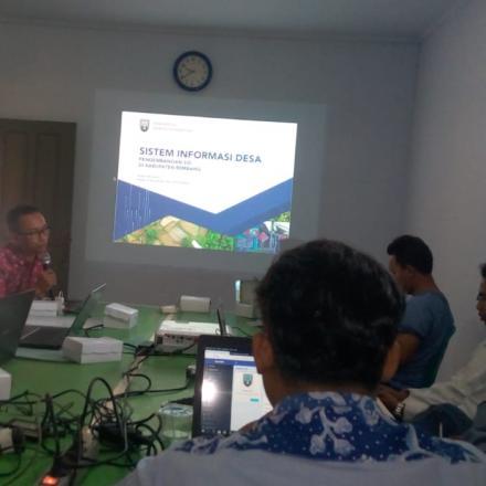 Guna Pengembangan Sistem Informasi Desa (SID) Admin SID Menyelenggarakan Pelatihan